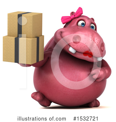 Pink Hippo Clipart #1532721 by Julos