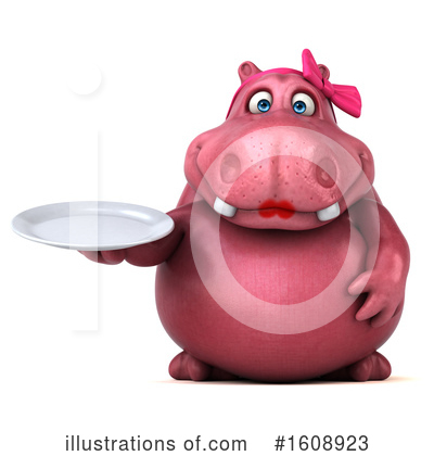 Pink Hippo Clipart #1608923 by Julos