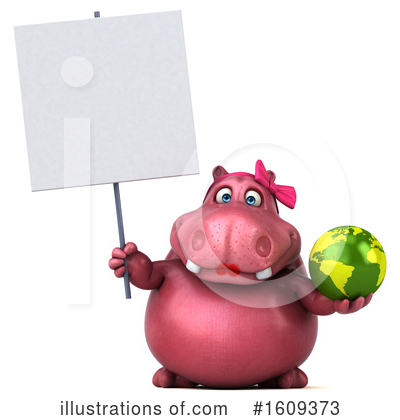 Pink Hippo Clipart #1609373 by Julos