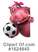 Pink Hippo Clipart #1624840 by Julos