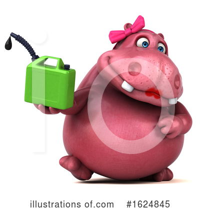 Royalty-Free (RF) Pink Hippo Clipart Illustration by Julos - Stock Sample #1624845