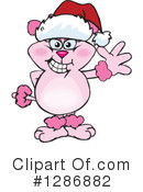 Pink Poodle Clipart #1286882 by Dennis Holmes Designs
