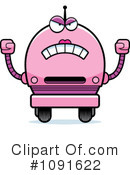 Royalty-Free (RF) Pink Robot Clipart Illustration #1091622