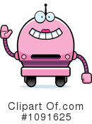 Royalty-Free (RF) Pink Robot Clipart Illustration #1091625