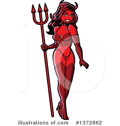 She Devil Clipart #1372862 by Clip Art Mascots