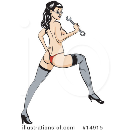 Pinup Clipart #14915 by Andy Nortnik
