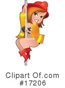 Royalty-Free (RF) pinup Clipart Illustration #17206
