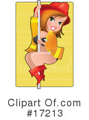 Royalty-Free (RF) pinup Clipart Illustration #17213