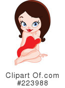 Royalty-Free (RF) pinup Clipart Illustration #223988