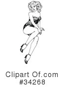 Royalty-Free (RF) Pinup Clipart Illustration #34268