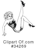 Royalty-Free (RF) Pinup Clipart Illustration #34269