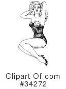 Royalty-Free (RF) Pinup Clipart Illustration #34272