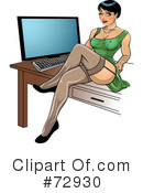 Royalty-Free (RF) Pinup Clipart Illustration #72930