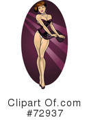Royalty-Free (RF) Pinup Clipart Illustration #72937