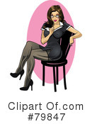 Royalty-Free (RF) pinup Clipart Illustration #79847