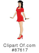 Royalty-Free (RF) pinup Clipart Illustration #87617