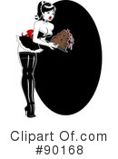 Royalty-Free (RF) Pinup Clipart Illustration #90168