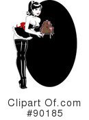 Royalty-Free (RF) Pinup Clipart Illustration #90185