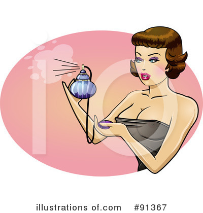 Royalty-Free (RF) Pinup Clipart Illustration by r formidable - Stock Sample #91367