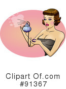 Royalty-Free (RF) pinup Clipart Illustration #91367