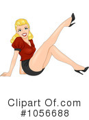 Royalty-Free (RF) Pinup Woman Clipart Illustration #1056688