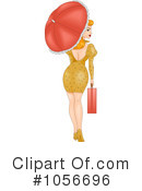 Royalty-Free (RF) pinup woman Clipart Illustration #1056696
