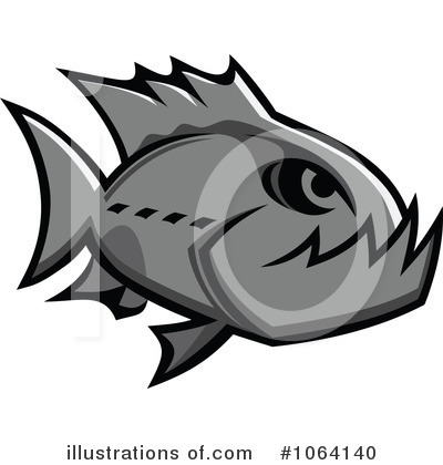 Piranha Clipart #1064140 by Vector Tradition SM