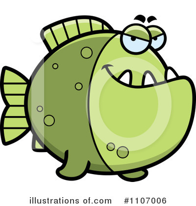 Piranha Clipart #1107006 by Cory Thoman