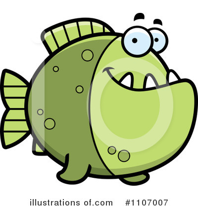 Piranha Clipart #1107007 by Cory Thoman