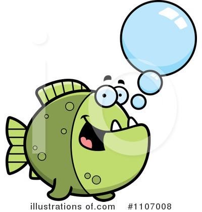 Piranha Clipart #1107008 by Cory Thoman