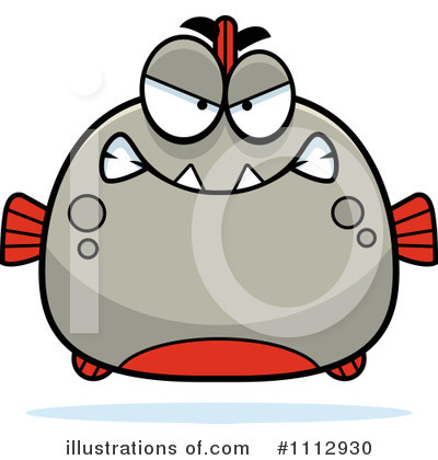 Piranha Clipart #1112930 by Cory Thoman