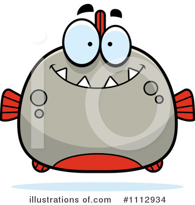 Piranha Clipart #1112934 by Cory Thoman