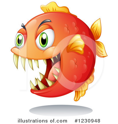 Piranha Clipart #1230948 by Graphics RF