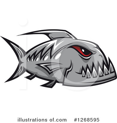 Piranha Clipart #1268595 by Vector Tradition SM