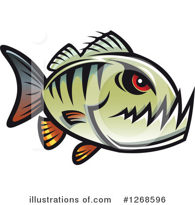 Piranha Clipart #1268596 by Vector Tradition SM