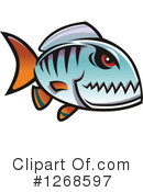 Piranha Clipart #1268597 by Vector Tradition SM