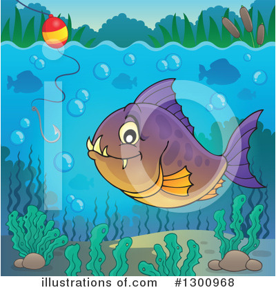 Piranha Clipart #1300968 by visekart