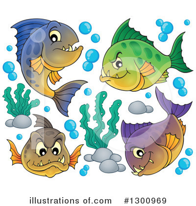 Piranha Clipart #1300969 by visekart