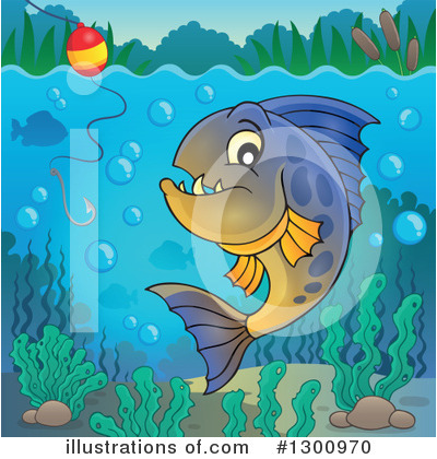 Piranha Clipart #1300970 by visekart