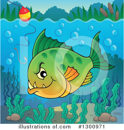 Royalty-Free (RF) Piranha Clipart Illustration by visekart - Stock Sample #1300971