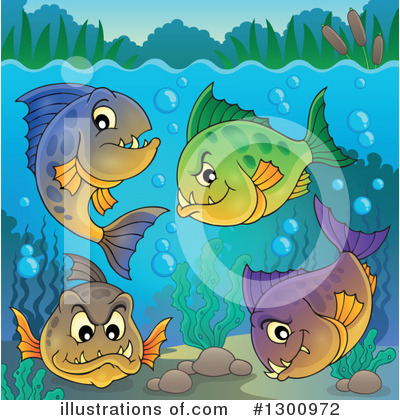 Piranha Clipart #1300972 by visekart
