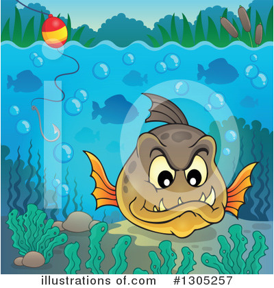 Fishing Clipart #1305257 by visekart