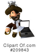 Pirate Character Clipart #209843 by Julos
