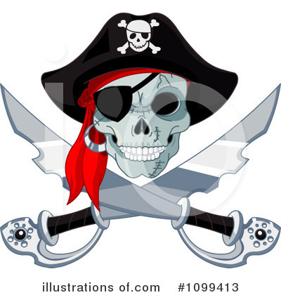 Royalty-Free (RF) Pirate Clipart Illustration by Pushkin - Stock Sample #1099413