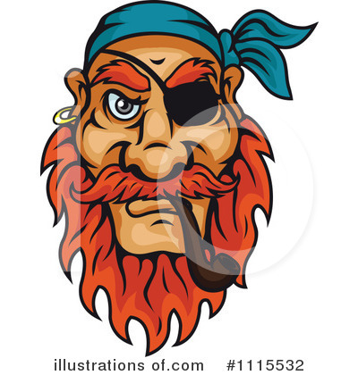 Pirate Clipart #1115532 by Vector Tradition SM