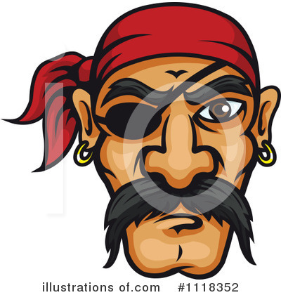 Pirate Clipart #1118352 by Vector Tradition SM