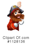 Royalty-Free (RF) Pirate Clipart Illustration #1128136