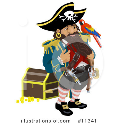 Pirate Clipart #11341 by AtStockIllustration