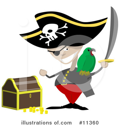 Pirate Clipart #11360 by AtStockIllustration