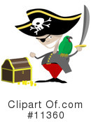 Royalty-Free (RF) Pirate Clipart Illustration #11360
